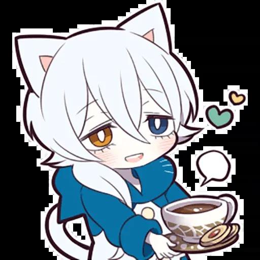 White Kitten 01 - Sticker 20