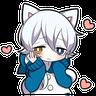 White Kitten 01 - Tray Sticker