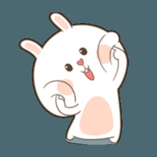 Puffy Rabbit 1 - Tray Sticker