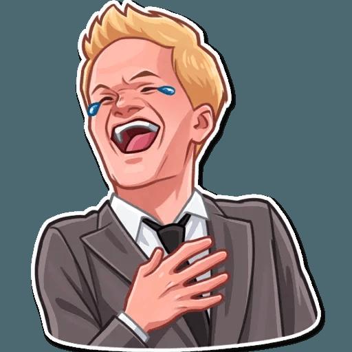 Barney Stinson - Tray Sticker