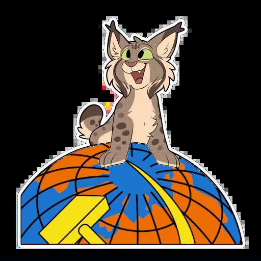 communist lynx - Sticker 5