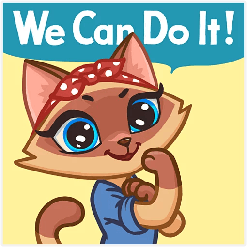 Lady cat - Sticker 1