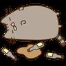 fat cat 3 - Tray Sticker