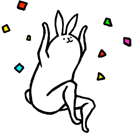 Rabbit with beautiful legs - Sticker 28