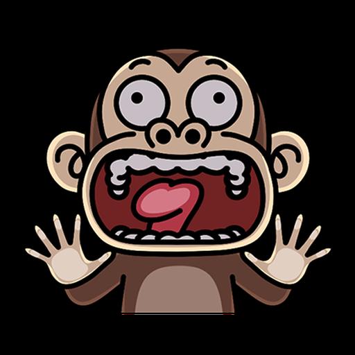瘋狂的猴子  - Sticker 22