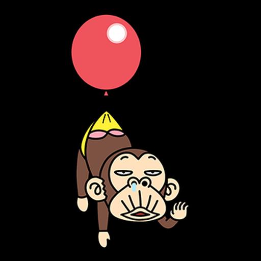 瘋狂的猴子  - Sticker 2
