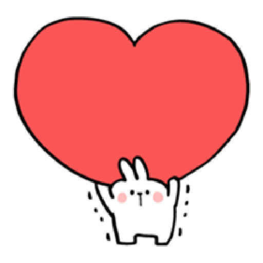 Spoiled Rabbit Heart 1 - Tray Sticker
