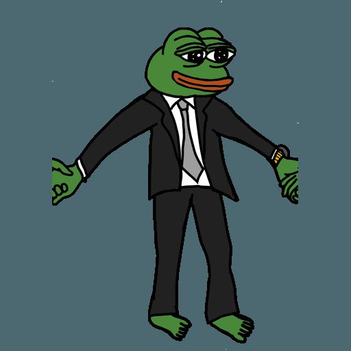 Pepe人鏈 - Sticker 3