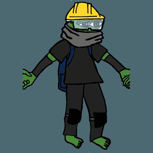 Pepe人鏈 - Sticker 2