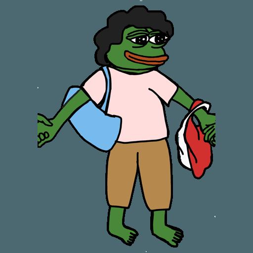 Pepe人鏈 - Sticker 24