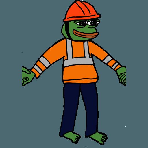 Pepe人鏈 - Sticker 16