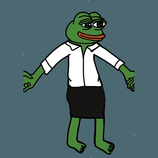 Pepe人鏈 - Sticker 4