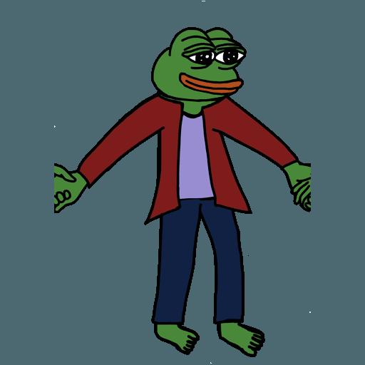 Pepe人鏈 - Sticker 7