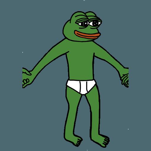 Pepe人鏈 - Sticker 30