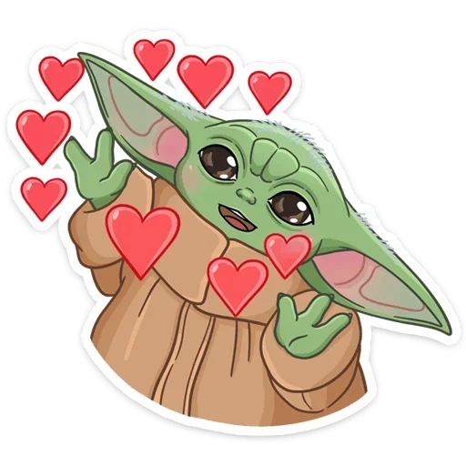 BabyYoda1 - Sticker 3