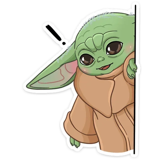 BabyYoda1 - Sticker 2