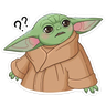 BabyYoda1 - Tray Sticker