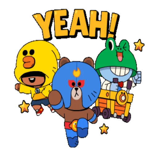 Brown And Friends  - Sticker 5