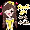 Thanks 😘 - Tray Sticker