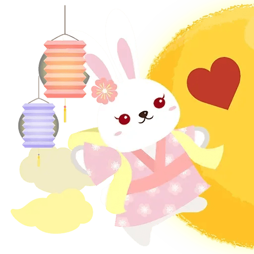 Mid autumn rabbit - Sticker 14