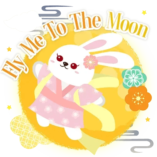 Mid autumn rabbit - Sticker 3