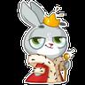 Bunny2 - Tray Sticker