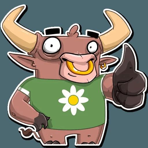 Bull Ringo - Tray Sticker