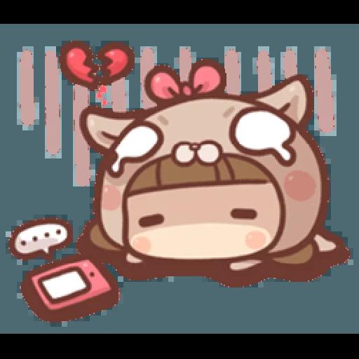 香菇妹&小豬先生 - Sticker 11