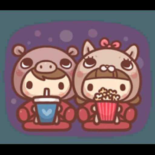 香菇妹&小豬先生 - Sticker 24