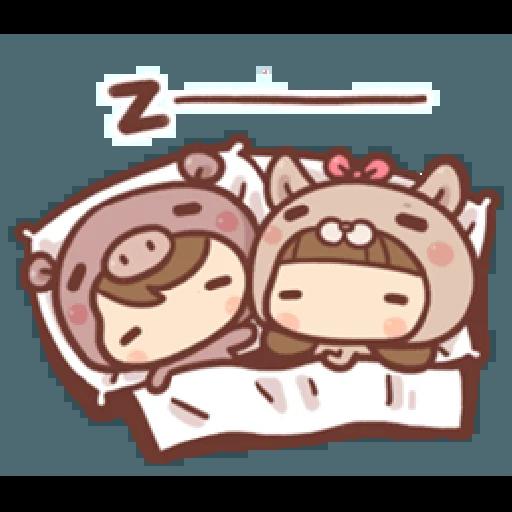 香菇妹&小豬先生 - Sticker 23