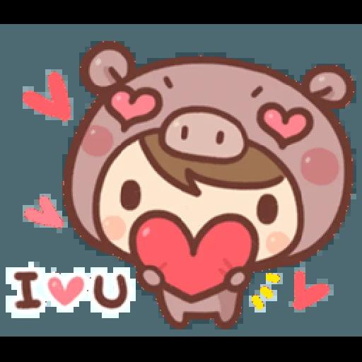 香菇妹&小豬先生 - Sticker 10