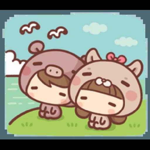 香菇妹&小豬先生 - Sticker 22