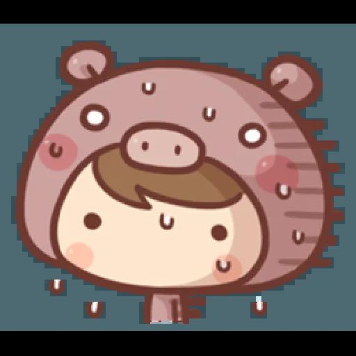 香菇妹&小豬先生 - Sticker 19