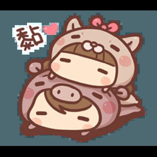 香菇妹&小豬先生 - Sticker 2