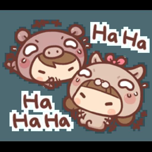 香菇妹&小豬先生 - Sticker 17