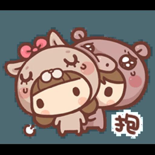 香菇妹&小豬先生 - Sticker 3