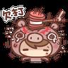 香菇妹&小豬先生 - Tray Sticker
