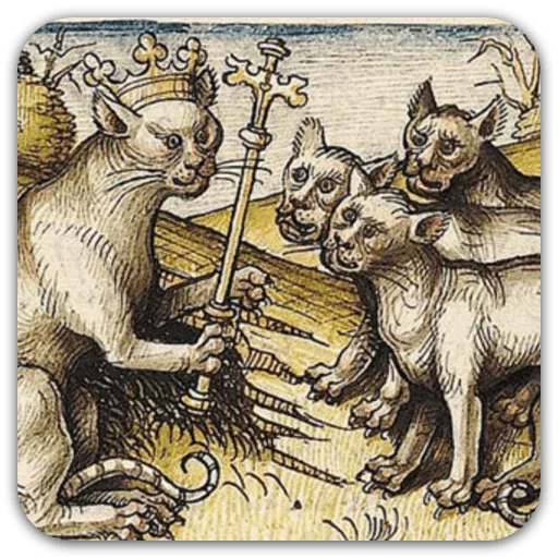 Medieval Cats - Sticker 20