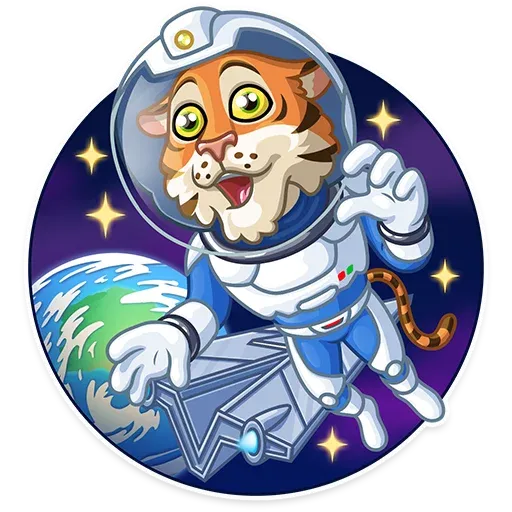 Cosmic Tiger - Sticker 14