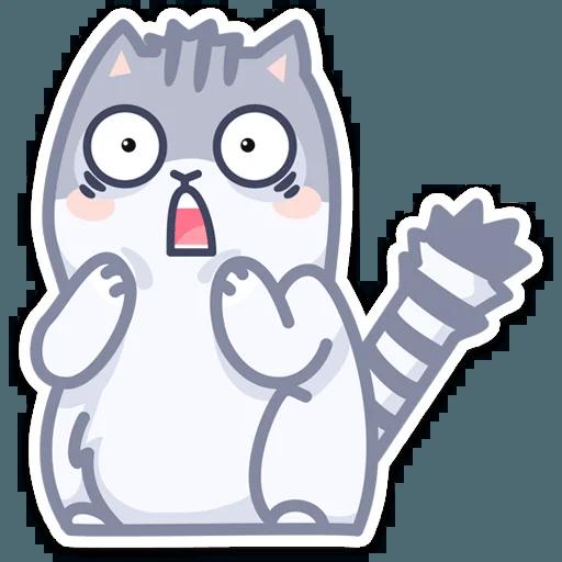 Gray Cat - Sticker 30