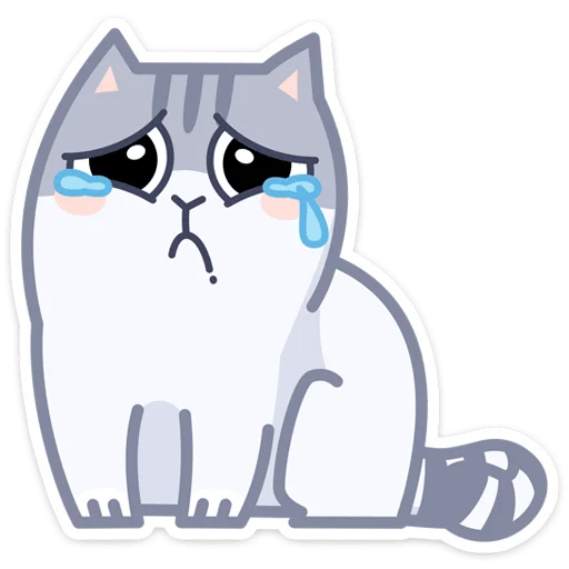 Gray Cat - Sticker 27