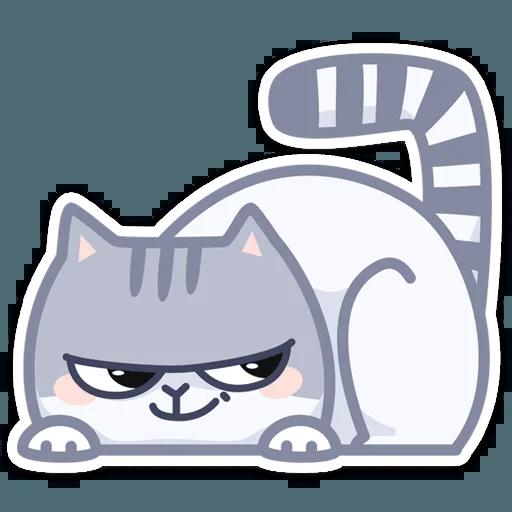 Gray Cat - Sticker 10