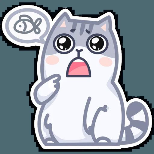 Gray Cat - Sticker 8