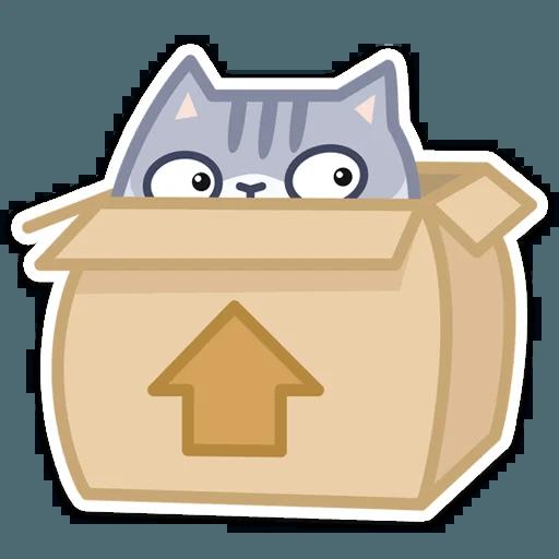Gray Cat - Sticker 16
