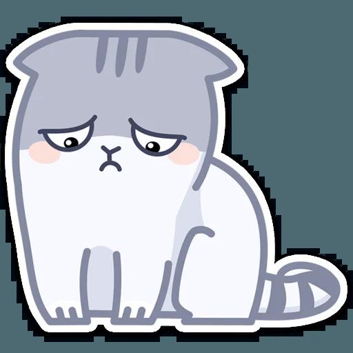 Gray Cat - Sticker 28