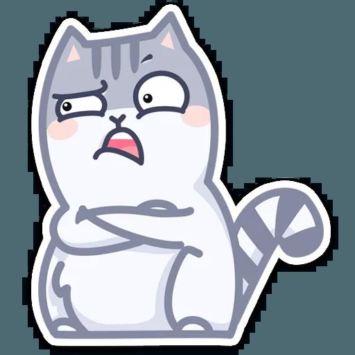 Gray Cat - Sticker 11