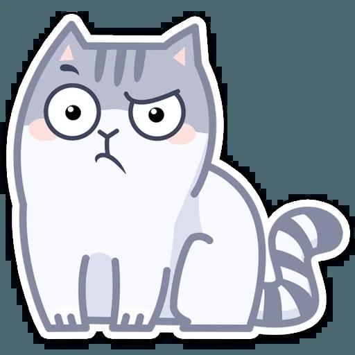 Gray Cat - Sticker 9