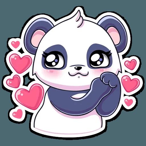 Panda Tori - Tray Sticker