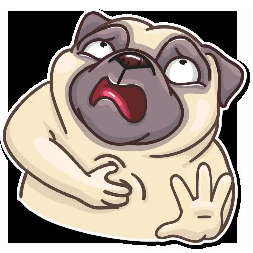 Pug Power - Sticker 4