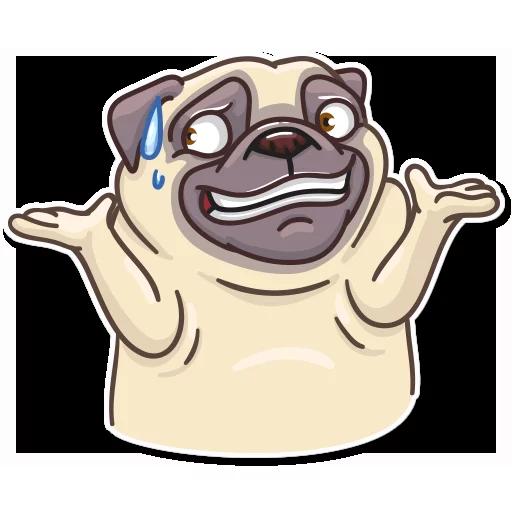 Pug Power - Sticker 27